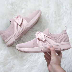 Mark Nason Pink Bow Slip-On Sneaker